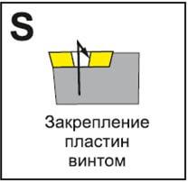 Крепление пластин винтом