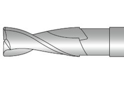 Фрезы концевые двухзубые с плоским торцем