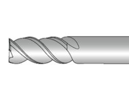 Фрезы концевые трёхзубые с плоским торцем