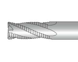 Фрезы концевые четырёхзубые с плоским торцем