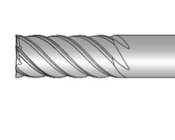 Фрезы концевые шестизубые с плоским торцем
